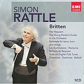 Britten: War Requiem, Young Person's Guide, Serenade, etc / Sir Simon Rattle, et al