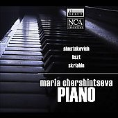 Shostakovich, Liszt, Scriabin: Piano Works / Chershintseva