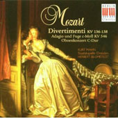 Mozart: Divertimenti KV 136-138; Adagio und Fuge c-Moll KV 546; Oboe Concerto / Kurt Mahn, oboe