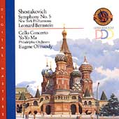 Shostakovich: Symphony no 5, Cello Concerto / Ma, Bernstein