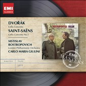 Dvorák: Cello Concerto; Saint-Saëns: Cello Concerto No. 1 / Mstislav Rostropovich, cello; Giulini