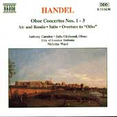 Handel: Oboe Concertos no 1-3, etc / Ward, Camden, et al