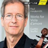 Paul Hindemith: Works for Viola d'Amore - plus Carl Stamitz; Biber / Gunter Teuffel, viola d'amore