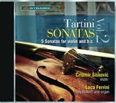 Giuseppe Tartini (1692-1770): Sonatas, Vol. 2: 5 Sonatas for Violin and B.C. / Crtomir Siskovic, violin; Luca Ferrini, harpsichord & organ