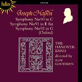 Haydn: Symphonies no 90-92 / Roy Goodman, Hanover Band