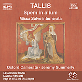 Tallis: Spem in Alium / Summerly, Oxford Camerata