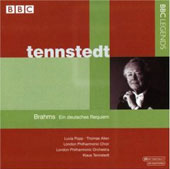 Brahms: German Requiem / Tennstedt, Popp, Allen, London PO, et al