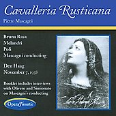 Mascagni: Cavalleria Rusticana / Melandri, Bruno Rasa