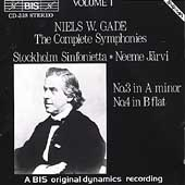 Gade: Complete Symphonies Vol 1 / J&#228;rvi, Stockholm
