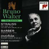 Bruno Walter Edition - Strauss, Barber, Dvorák