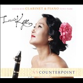 NY Counterpoint - works for clarinet & piano by Horovitz, Carter, Muczynski, Bernstein & Reich / Lucia Kye, clarinet; Tony Park, piano