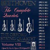 Beethoven: The Complete Quartets Vol VIII / Orford Quartet