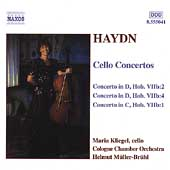 Haydn: Cello Concertos / Kliegel, M&uuml;ller-Br&uuml;hl, Cologne CO