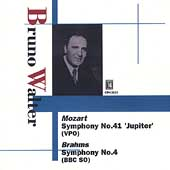 Mozart: Symphony no 41;  Brahms / Walter, Vienna PO, BBC SO