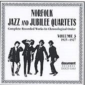 Norfolk Jazz & Jubilee Quartet: Complete Recorded Works, Vol. 3 (1925-1927)