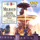 Milhaud: 6 Little Symphonies, etc / Milhaud, Luxembourg RSO