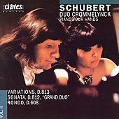 Schubert: Works for Piano Four Hands Vol 2 / Crommelynck Duo