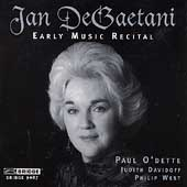 Jan DeGaetani -Early Music Recital / O'Dette, Davidoff, West