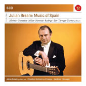 Julian Bream: Music of Spain - Guitar Works by Albeniz, Granados, Sor, Milan, Narvaez, Rodrigo, Tarrega, Turina et al. / Julian Bream, guitar; Chamber Orchestra of Europe; RCA Victor Chamber Orchestra [6 CDs]