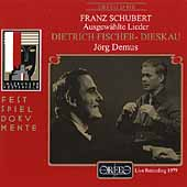 Schubert: Ausgew&#228;hlte Lieder / Fischer-Dieskau, Demus