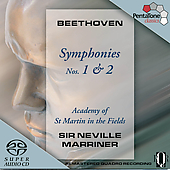 Beethoven: Symphonies no 1 & 2 / Sir Neville Marriner, ASMF