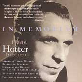 In Memoriam Hans Hotter (1909-2003)