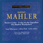 Mahler: Vocal Works / Felbermeyer, Prohaska, et al