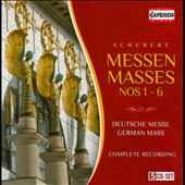 Schubert: Masses Nos. 1-6; German Mass / Marcus Creed