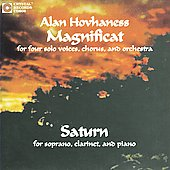Hovhaness: Magnificat Op 157, Saturn / Robert Whitney, Louisville SO, et al