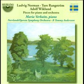 Ludvig Norman, Ture Rangström, Adolf Wiklund: Pieces for Piano and Orchestra / Maria Verbaite, piano