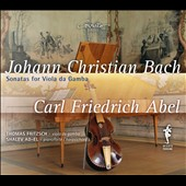 Johann Christian Bach, Carl Friedrich Abel: Sonatas for Viola da Gamba / Thomas Fritzsche, viola da gamba; Shalev Ad-El, piano, hpsi
