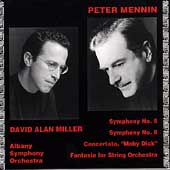 Mennin: Symphonies 5 & 6, Moby Dick, etc / Miller, Albany SO