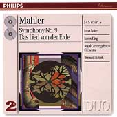 Mahler: Symphony no 9, Das Lied von der Erde / Haitink