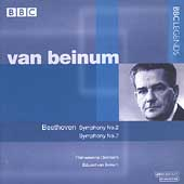 Beethoven: Symphonies no 2 & 7 / Van Beinum, Philharmonia