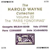 The Harold Wayne Collection Vol 22 - The Paris Fonotipias 2