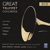 Great Trumpet Concertos - Works by Haydn, Lovelock, Weber, and Mills / Geoffrey Payne, trumpet; Melbourne SO; Hopkins, Halász