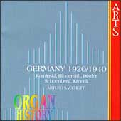 Organ History - Germany 1920-1940 / Arturo Sacchietti