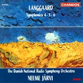 Langgaard: Symphonies 4, 5 & 6 / J&auml;rvi, Danish NRSO