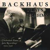 Backhaus Plays Brahms