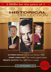 Historical Collection: Alfredo Kraus, Boris Christoff, Renata Scotto [3 DVD]