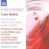 Stravinsky: Later Ballets / Robert Craft, et al