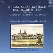 Bach: English Suites no 4-6 / Christianne Jaccottet