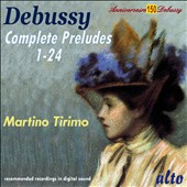 Debussy: Complete Preludes, nos 1 - 24 / Martino Tirimo, piano