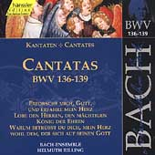 Edition Bachakademie Vol 43 - Cantatas BWV 136-139 / Rilling