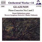 Orchestral Works Vol 14 - Glazunov: Piano Concertos 1 & 2