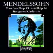 Mendelssohn: Trios Opp 49 & 66 / Stuttgarter Klaviertrio