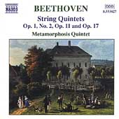 Beethoven: String Quintets Vol 1 / Metamorphosis Quintet
