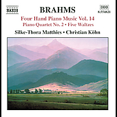Brahms: Four Hand Piano Music Vol 14 / Matthies, Köhn