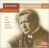Busoni: Piano Transcriptions Vol 2 / Holger Groschopp