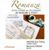 Romanza - works by Mozart, Beethoven & Liszt / Bertrand Giraud, piano; Nguyen Duy-Thong, countertenor